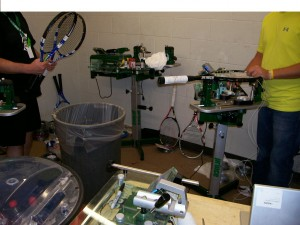 U.S Men's Clay Court Championship Stringing Room - Prince 5000 Stringing Machines