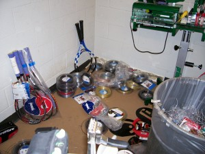 U.S. Men's Clay Court Championship Stringing Room