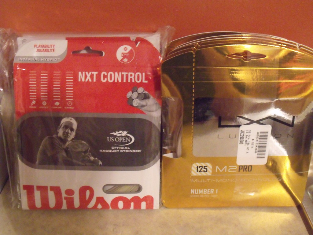 Wilson NXT Control and Luxilon M2 Pro